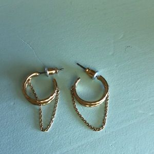 Stella & Dot gold hoops